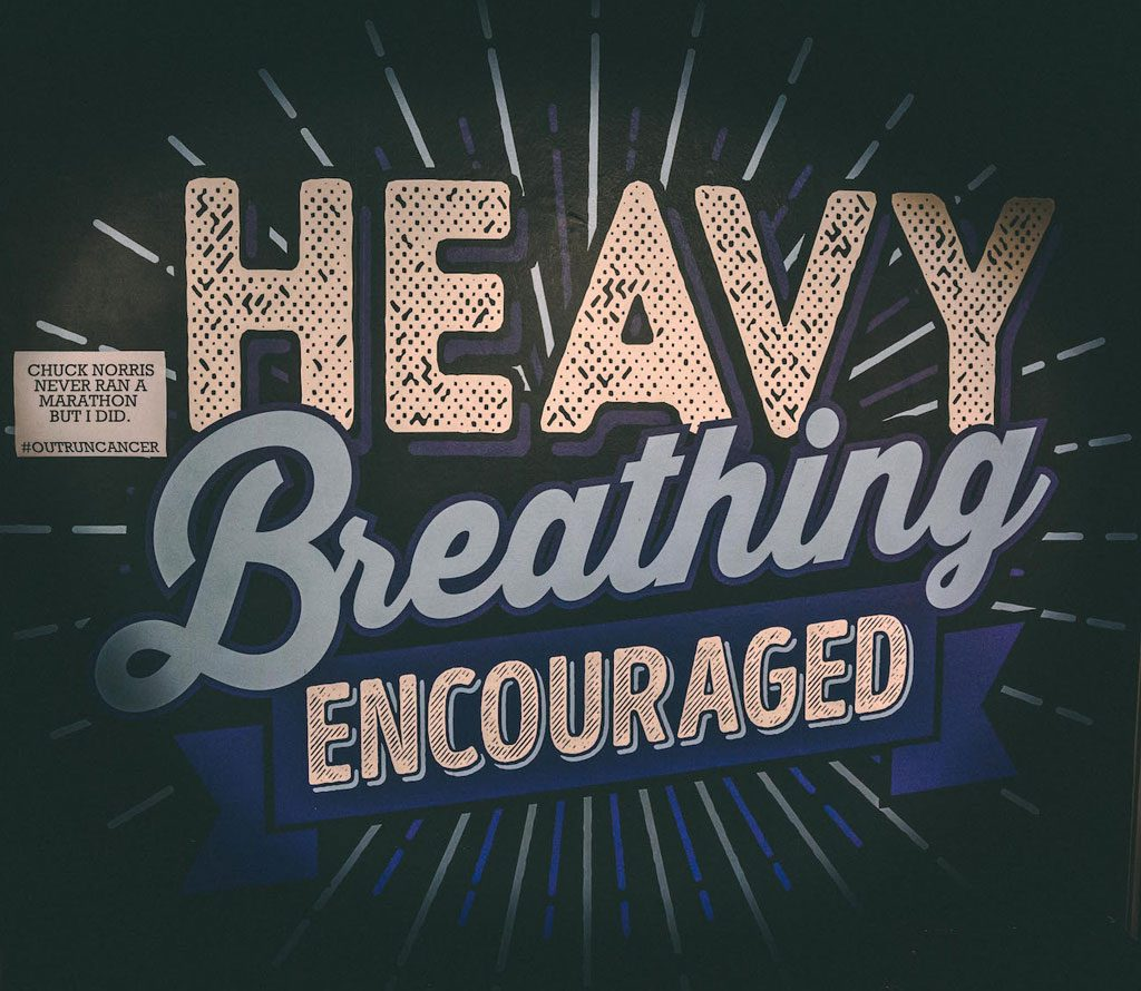 heavy breathing encouraged